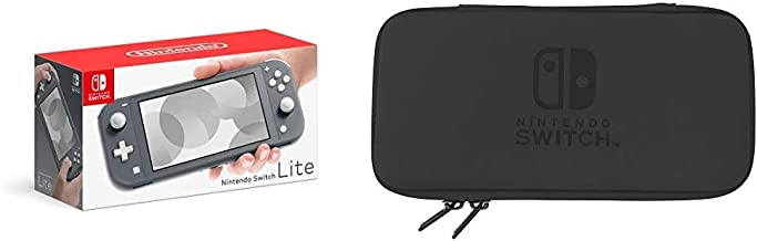 Nintendo Switch Lite - Gris & Pochette Rigide pour Nintendo Switch Lite - Noir