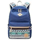 Danny®lona mochila Vintage colorida banda escuela para jóvenes adolescentes y niñas ligero lindo impermeable Casual mochila tiene 14 pulgadas Laptop escuela bolso mochila Auzl