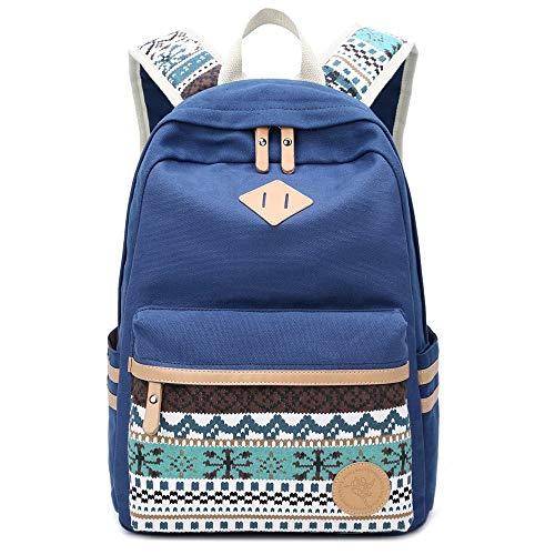 Danny  lona mochila Vintage colorida banda escuela para jóvenes adolescentes y niñas
