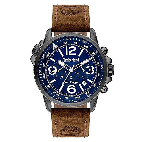 TIMBERLAND Reloj para Hombre Analógico Cuarzo con Correa de Piel de Vaca 15129JSU-03