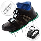 Pre Assembled Lawn Aerator Shoes with 4 Adjustable Straps | Ready to Use
