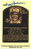 Reggie Jackson signed New York Yankees Hall of Fame Plaque Card- JSA Witnessed (3.5x5.5) - MLB Autographed Baseball Cards