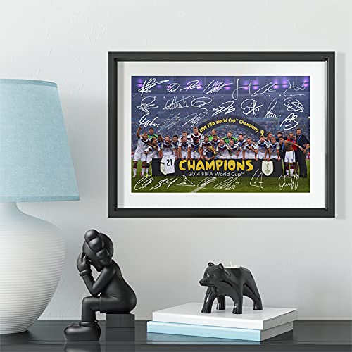 Germany 2014 World Cup Champions Winner Team Squad Printed Signed Framed Autograph Memorabilia Picture Photo Poster Gift Wall Decoration