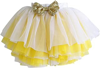 HOOLCHEAN Little Girls Layered Soft Tulle Tutu Skirt with Shorts Bloomer Multicolor Skorts