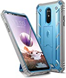 LG Stylo 4 Case, LG Stylo 4 Plus Case, Poetic Revolution [360 Degree Protection][Kick-Stand][Built-in-Screen Protector] Full-Body Rugged Heavy Duty Case for LG Stylo 4 Plus/LG Stylo 4 - Blue