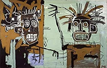 Home Decor Print Oil Painting on Canvas Wall Art Graffiti Artwork By Jean-Michel Basquiat (20x32inch,Unframed)