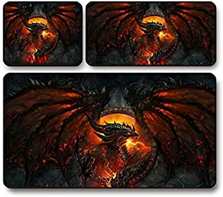 World of Warcraft Wow Cataclysm Death Wing Game Mouse Pad Oversized Thickening Internet Cafe Table Pad (70x30cmThicken 5m...