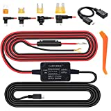 Dash Cam Hardwire Kit, 12V 24V to 5V Car Dash Camera Charger Power Cord, Mini USB/Micro USB Hard Wire Kit Replacement for Rexing Vantrue Crosstour AUKEY APEMAN, Installation Tool Included