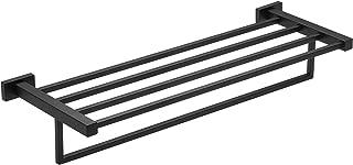 BESy Premium SUS 304 Stainless Steel Towel Racks for Bathroom, Bathroom Shelf with Towel Bar, Multifunction Single Towel B...
