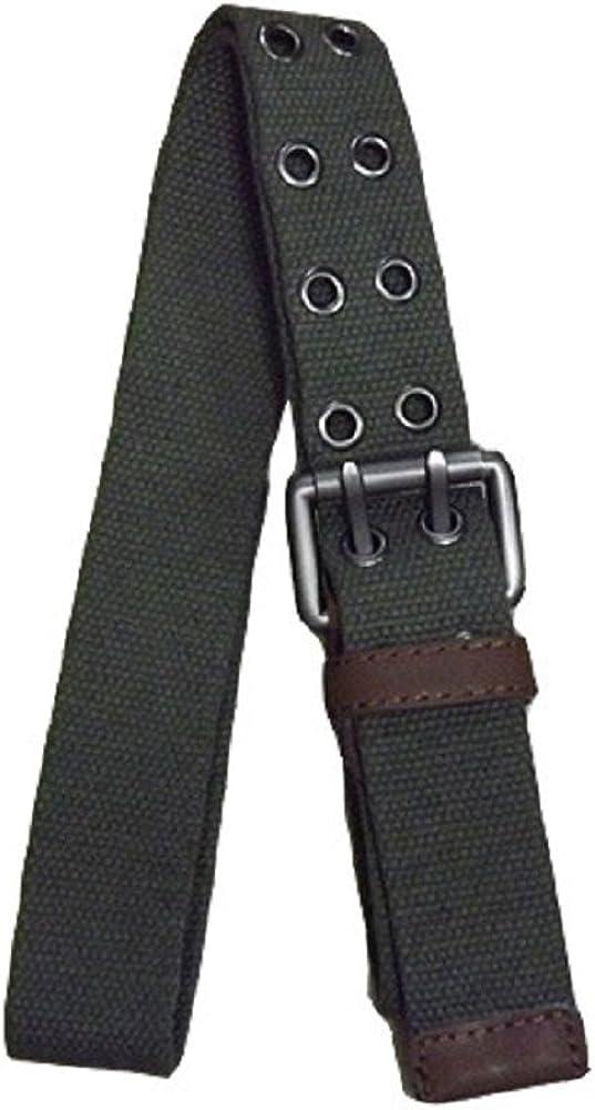 Kalanman Mens Womens Casual Double Hole Grommets Canvas Web Belt Cargo Shorts Belt Y05