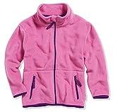 Playshoes Mädchen Fleece farbig abgesetzt Jacke, Rosa (Pink 18), 98