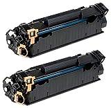 Prestige Cartridge CF283A 83A Pack de 2 Cartuchos de tóner láser compatibles para HP Laserjet Pro MFP M225dn, M225dw, M201dw, M201n, M202dw, M202n, M125a, M125nw, M126nw, M127fn, M127fw, M128fn