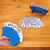 Disabili Anziani Porta Carte da Gioco per Bambini in Plastica Titolari di Carte da Gioco per Adulti Blu Playing Card Holder Supporto di Carte da Gioco a Mani Libere