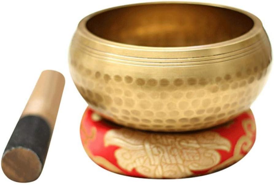 JYDQM Tazón de Cuenco Tibetano Hecho a Mano Resonancia curativo Meditación de Yoga Cuenco con Hibiscus Pared Decorativa