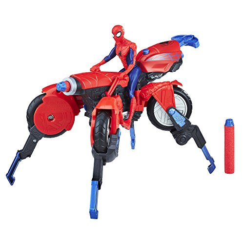 Product Image of the Marvel Spider-Man 3-in-1 Spider Cycle with Spider-Man Figure