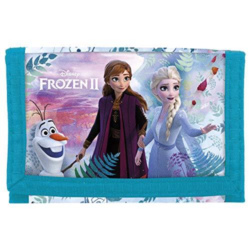 Disney Frozen - Die Eiskönigin ELSA Anna, Geldbeutel Portemonnaie Geldbörse Brustbeutel (PF27), blau, 12 x 8 x 1 cm