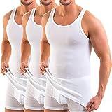 HERMKO 3000 Lot de 3 Débardeur Homme, Couleur:Blanc, Taille:3 (M)