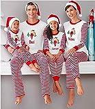Pijamas de Navidad para el otoño y el invierno con estampado de dos piezas para padres e hijos (color: papá XL)