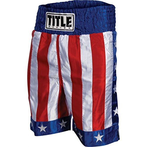 Title American Flag Boxing Trunks, X-Large