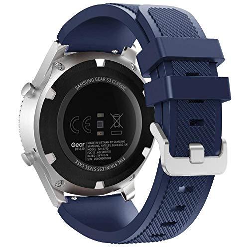 Pulseira extra para Samsung Gear S3/ Galaxy Watch 46mm (Azul Petróleo Rajado)