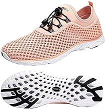 Zhuanglin Women's Quick Drying Aqua Water Shoes,Pinkorange,7 B(M) US
