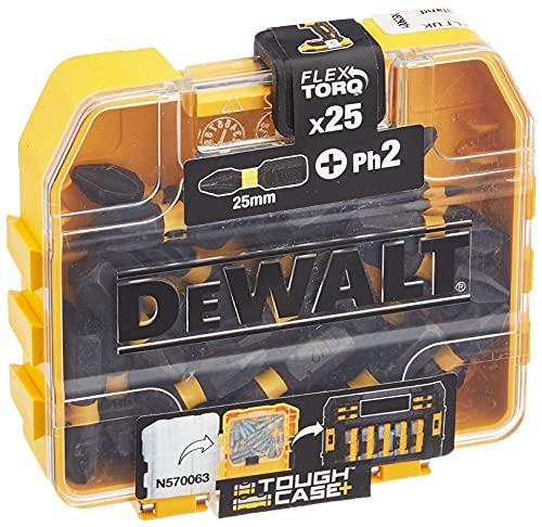 Dewalt DT70555T-QZ DT70555T-QZ-Juego de 25 Puntas IMPACT TORSION Ph2 25mm, Único