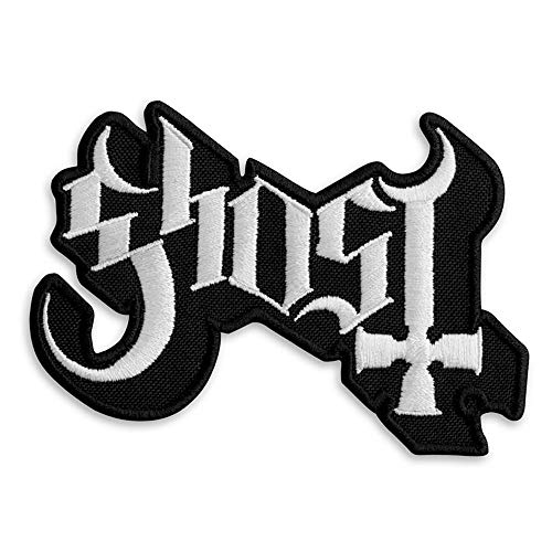 Ghost BC Band Logo Patch - Rock Emblem Embroidered Iron-on Patches - Heavy Metal Embroidery Emblem – Iron On and Sew On Applique Patch for Bikers - 3.8 x 2.6 inches