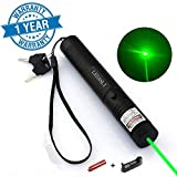 6. LESANLI Green Light Pointer High Power Visible Beam with Adjustable Focus for Pointing Sky/Star/Hunting/Hiking, LED Interactive Baton Funny Toy for Dog/Cat