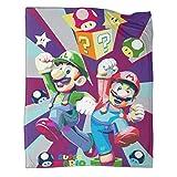 Xaviera Doherty Super Mario Game Comics Manta de terciopelo de lenguaje artístico, 180 x 230 cm, muy suave y ligera. Se utiliza en sillas, sofás, salas de estar y dormitorios.