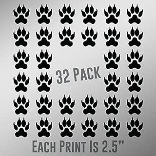 ND032 Cat Paw Prints 32-Pack | 2.5-Inches | Premium Quality Black Vinyl
