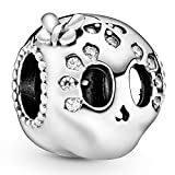 Pandora Jewelry Sparkling Skull Cubic Zirconia Charm in Sterling Silver