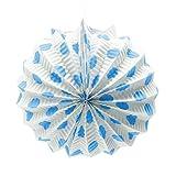 Farolillo de Papel para decoración de Feria con Gancho Lunares celestes