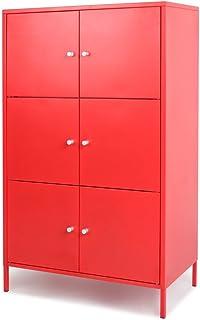 IKayaa 6 Portes Armoire De Rangement En Métal Moderne Armoires De Rangement  Locker Chambre Salle De