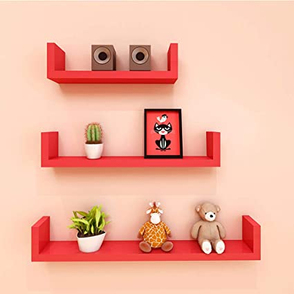 LTJTVFXQ-shelf Juego de 3 estantes de Pared Estantes ...