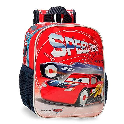 Disney Cars Speed Trails Mochila Preescolar, Rojo