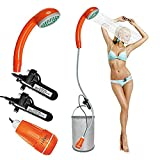 RGA Portable Outdoor Camping Shower USB Electronic Two 2200mAh Rechargeable batteries,Water Pump for Camping,...