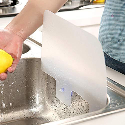 Tongdejing Waschbecken Spritzschutz, Küchenwaschbecken Sauger Waschbecken Wasser Spritzschutz, Geschirrspülblech mit Saugnapf, Spritzwassergeschützte Halteplatte für Küche und Bad
