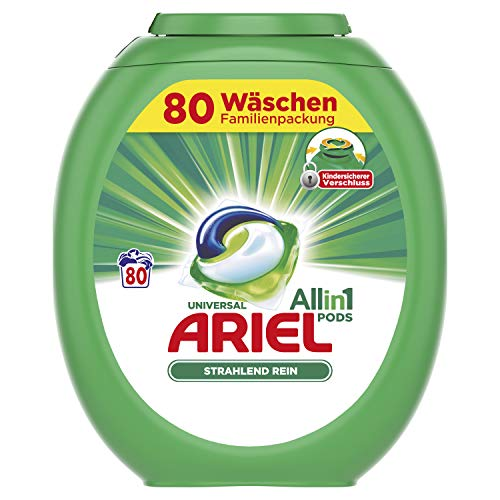 Ariel All-in-1 PODS Universal Strahlend Rein, 80Waschladungen
