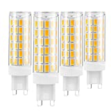 G9 Light Bulb No Flikcer, Non-Dimmable Ceramic G9 Halogen Bulb LED Replacement AC100-240V, 8W 800LM Equivalent Halogen70W/80W, Soft Warm White 3000K- 4Pack, YKOPEO (Soft Warm White)