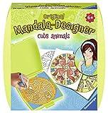 Ravensburger Mandala Designer Mini cute animals 29766, Zeichnen lernen für Kinder ab 6 Jahren, Kreatives Zeichen-Set mit Mandala-Schablone für farbenfrohe Mandalas -