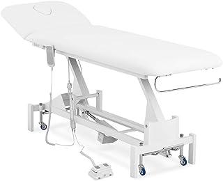 physa PHYSA LILLE WHITE Massageliege weiß 200 kg Räder Fußpedal Massagebank Therapieliege