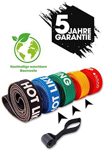 NEOLYMP Premium THERABÄNDER FÜR DEN PROFISPORTBEREICH + 5 Jahre GARANTIE + TÜRANKER, FITNESSBAND, GYMNASTIKBAND, WIDERSTANDSBAND, Terra Band (3er Set (Blau/Grün/Orange))