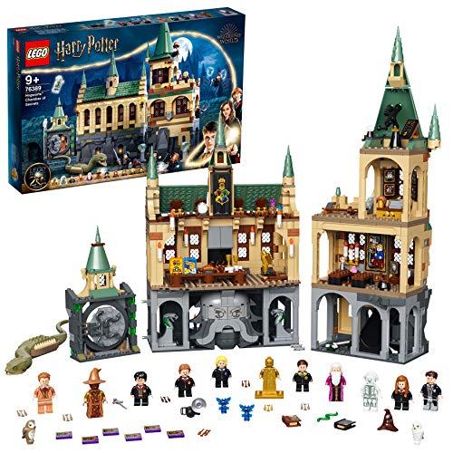 LEGO 76389 Harry Potter la Chambre des Secrets de Poudlard Jouet Château avec Grande Salle + Figurine Edition 20ème Anniversaire