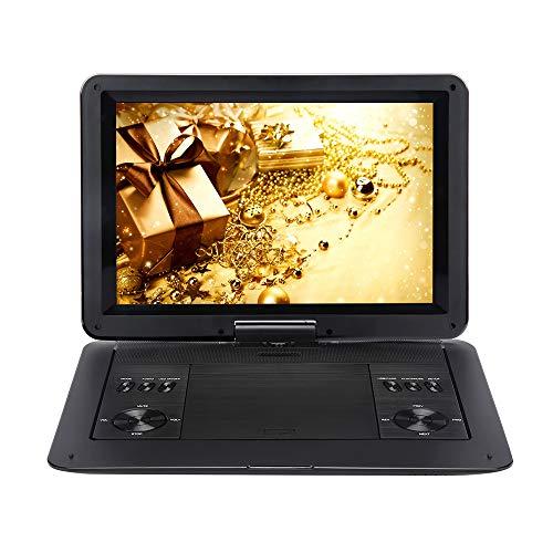 """Yehyep Tragbarer DVD-Player, 14.1"""" DVDs Player Für Kinder Und Auto Mit Play Video Kontinuierlich Für 7-8 Stunden/Kopfhörer-Ausgang, Videoausgang/Eingang Funktion, HD-LED-LCD-Bildschirm"""