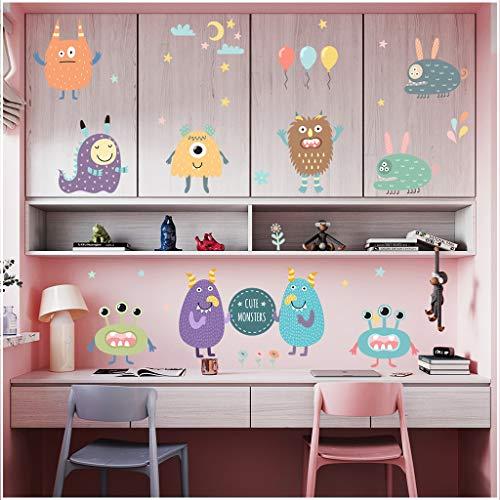 Adhesivo decorativo para pared con diseño de monstruo, para decoración de armario, dormitorio, nevera, etc