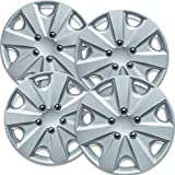 15 inch Hubcaps Best for 2003-2007 Honda Accord - (Set of 4) Wheel Covers 15in Hub Caps Silver Rim Cover - Car Accessories for 15 inch Wheels - Snap On Hubcap, Auto Tire Replacement Exterior Cap