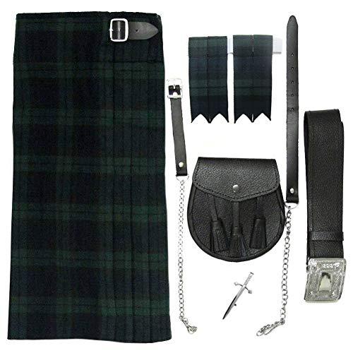 """Tartanista - Herren Kilt-Set - 5-teilig - Black Watch - Taille (Nabelhöhe) 116,8cm (46""""), Länge 61cm (24"""")"""