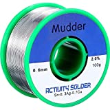 Mudder Lead Free Solder Wire Sn99 Ag0.3 Cu0.7 with Rosin Core for Electrical Soldering 0.22lbs (0.6...