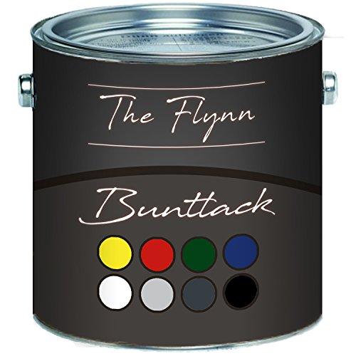 The Flynn Buntlack hochwertige Farbe für Holz und Metall -hervorragender Schutz für anspruchsvolle Holz- und Metallanstriche (1 L, Weiß (RAL 9010))
