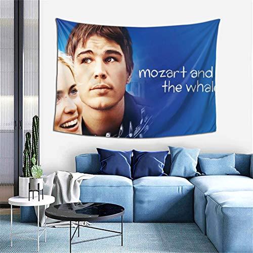 Mozart y la ballena tapiz para sala de estar, dormitorio, dormitorio, decoración para colgar en la pared, 152,4 x 101,6 cm